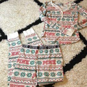Victoria's Secret PINK Thermal Pajama Set